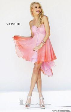 Embellished Hi Lo Dress by Sherri Hill 11064 Dress