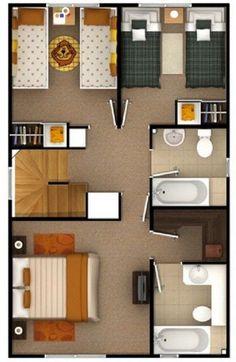 Construir casa de dos plantas de 6 x 15 m