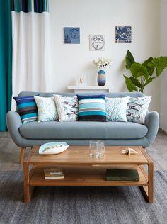 Salon POPPY - Alinéa - Jeu concours Pinterest - A gagner : Un canapé d'une valeur de 499€ ! Jouez sur : https://www.pinterest.com/alinea/les-salons-color%C3%A9s/