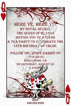 Alice In Wonderland Invitation Template 6