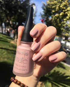 essence essence Cosmetics is a popular European brand sold at ULTA. While it may seem like our usual drugstore brand Blush Nails, Nail Swag, Winter Nail Art, Winter Nails, Mirror Effect Nail Polish, French Manicure Acrylic Nails, Gold Nail, Essence Cosmetics, Instagram Nails