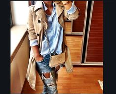 Street Style : tendances mode automne-hiver Idea and inspiration street style trend 2017 Image Description trends fall winter fashion Looks Chic, Looks Style, Fashion Mode, Look Fashion, Trendy Fashion, Womens Fashion, Trendy Style, Jeans Fashion, Net Fashion