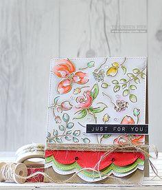 RejoicingCrafts: Pretty Pink Posh + Altenew Collaboration! Watercolor Floral Card. #prettypinkposh #altenew
