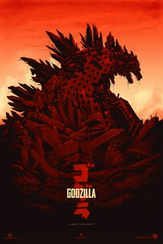 """Godzilla"" -  Legendary Pictures/Warner Bros. (2014) Teaser Poster for SDCC 2013"