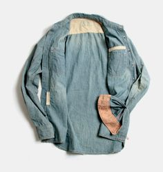 worn-in denim.