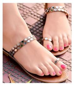 More click [.] Amazing Women Simple Flat Shoes Ideas Shoes Sandals Quick View Snapdeal Womens Sandals Upto 70 Off Buy Womens Sandals Flat Slipon Women's Shoes, Shoes Flats Sandals, Gold Flats, Slipper Sandals, Golf Shoes, Flat Shoes, Bridal Sandals, Bridal Shoes, Trendy Sandals