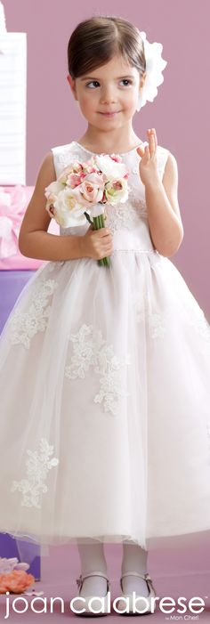 Joan Calabrese for Mon Cheri - Style No. 215341 #flowergirldresses