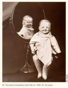 A two-faced doll from the 1920s