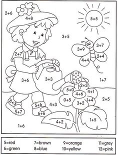math coloring worksheet addition for easter Math Coloring Worksheets, Kindergarten Worksheets, Preschool Activities, 1st Grade Math, Homeschool Math, Math For Kids, Math Lessons, Kids Education, Teaching Math