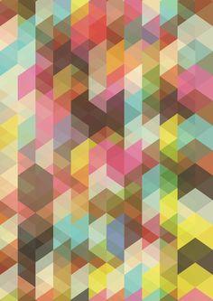 Geometric Abstract Print Poster  by Angela Ferrara