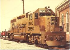 Gold Chessie Locomotive GM50. Commemorated General Motors 50 years of locomotive building.