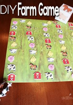 This DIY Farm Game with free printable dice for preschoolers is a great way to work on language skills and good sportsmanship.