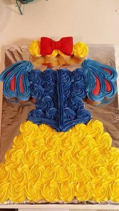 Snow White Dress Cupcake Cake