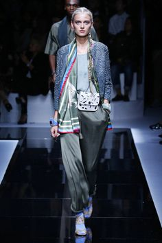 he rolls silk pants? Like. Emporio Armani | Ready-to-Wear Spring 2017 | Look 20