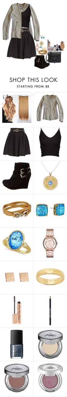 """Untitled #1989"" by oceangirl1995 ❤ liked on Polyvore featuring IRO, Preen, Boohoo, Bamboo, Gemvara, Salvatore Ferragamo, Kate Spade, Allurez, Marc Jacobs and Jennifer Meyer Jewelry"