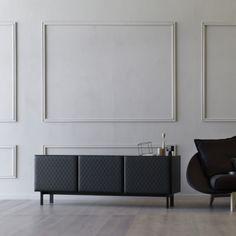 BLACK MODERN SIDEBOARD| mademoiselle by miniforms lab .  | bocadolobo.com/ #modernsideboard #sideboardideas