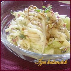 Téli saláta almával, retekkel, zellerrel Salad Shop, Cold Dishes, Hungarian Recipes, Healthy Life, Meal Prep, Cabbage, Sandwiches, Paleo, Food And Drink