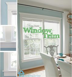 Remodelando la Casa: How to Install Trim on a Double Window// Our new window trim! Home Renovation, Home Remodeling, Interior Window Trim, Living Colors, Craftsman Trim, Craftsman Style, Window Casing, Window Moulding, Crown Molding