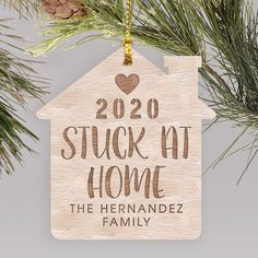 Remember the year 2020 you spent stuck at home with your family with a fun engraved ornament #personalizedchristmasornaments #2020Christmasornaments #engravedwoodornaments #personalizedChristmasornaments Personalized Christmas Ornaments, Great Christmas Gifts, Christmas Tree Ornaments, Wood Ornaments, How To Make Ornaments, Word Art Design, Personalized Gifts, Holiday Decor, Fun