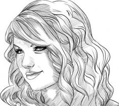 Taylor swift drawing is so accurate!!   MiNd BlOwN