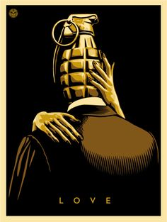 Love is the Drug (Gold) - OBEY GIANT