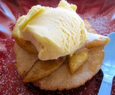 Arepa con apples-- sub natural sugars and veganize