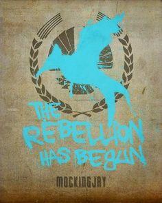 Mocking Jay  Follow Katniss Everdeen -   MOCKINGJAY   Serafini Amelia The Rebellion Has Begun Mocking Jay
