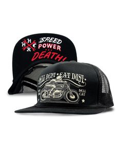 Hotrod Hellcat HELL BENT EAT DUST II Herren Kappe/Cap.Biker,Tattoo,Custom Style