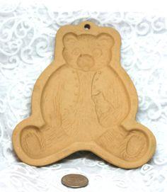 Vintage Teddy Bear Cookie Mold Paper shaper by HuldasTreasures