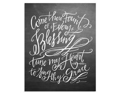 Come Thou Fount Canvas, chalkboard, largest size