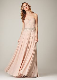 4f81bd852fa Mignon Spring 2014 Dresses - Pale Pink Beaded Chiffon Low Back Prom Dress -  Unique Vintage - Prom dresses