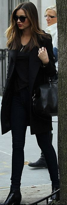 Miranda Kerr: Purse – Givenchy  Sunglasses – Stella McCartney  Jewelry – Anita Ko  Shoes and coat – Saint Laurent