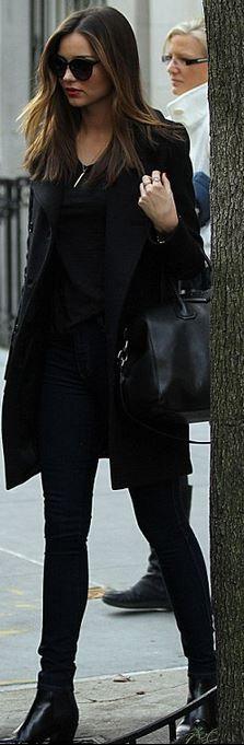 Miranda Kerr: Purse – Givenchy  Sunglasses – Stella McCartney  Jewelry – Anita Ko  Shoes and coat – Saint Laurent