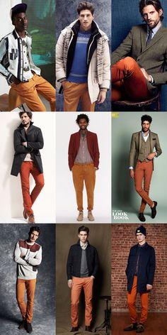 Men's Orange Trousers Lookbook
