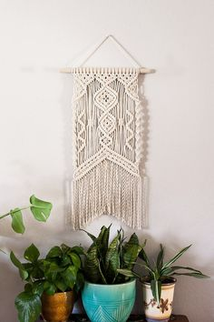 Cotton Macrame Wall Hanging by FromAgnes on Etsy
