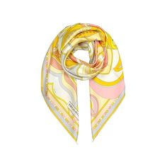 Emilio Pucci Square Scarves Floral Print Twill Silk Square Scarf (1.180 BRL) ❤ liked on Polyvore featuring accessories, scarves, square scarves, sun, floral print scarves, square shawl, emilio pucci scarves and floral scarves