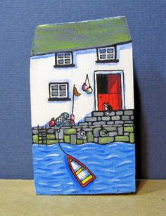 Harbour cottage by jamjarart on Etsy by Joy Williams.