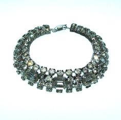Vintage 50s Crystal Bracelet / Rhinestone by BreesVintageRevivals, $36.00