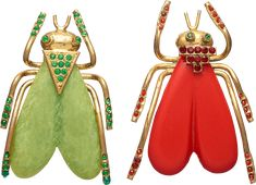 Two 1920s Bugs - Brooch of the Month January 2018