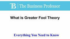 What is Greater Fool Theory  #TheBusinessProfessor #entrepreneurship #startup #business #businessowner #businessowners #law #lawschool #businessschool #Greaterfooltheory What Is Capital, Law School, Business School, The Fool, Entrepreneurship, Need To Know, Professor, Theory, Instagram