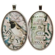 Fly Ovalette Charm - Eye Candy For The Soul by Sally Jean $13.99