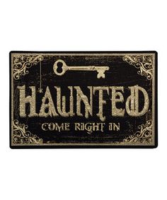Add a bit of spooky décor to the front porch with this festive doormat. It's perfect for welcoming trick-or-treaters and seasonal partygoers!