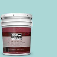 BEHR Premium Plus Ultra 5 gal. #510C-3 Rivers Edge Flat/Matte Interior Paint-175005 - The Home Depot