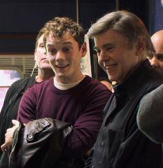 Chekov & Chekov: Anton Yelchin and Walter Koenig.