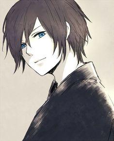 Risultati immagini per anime boy black hair blue eyes