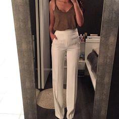 Image via We Heart It #fashion #glamour #looks #calças #hightousers