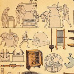 Ancient Rome AntiqueChromolithograph Machines by CarambasVintage