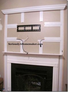 Hide Your TV cords with trim work wall mount tv