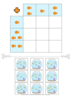 Children have to concentrate to find the combined images and paste them into their correct spot. Great for practicing visual discrimination. All 22 worksheets come in color and in black/white. Preschool Worksheets, Learning Activities, Preschool Activities, Puzzles For Toddlers, Math For Kids, Primary School, Pre School, Logic Games, Math Addition