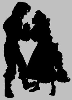 Tangled silhouette - Eugene and Rapunzel